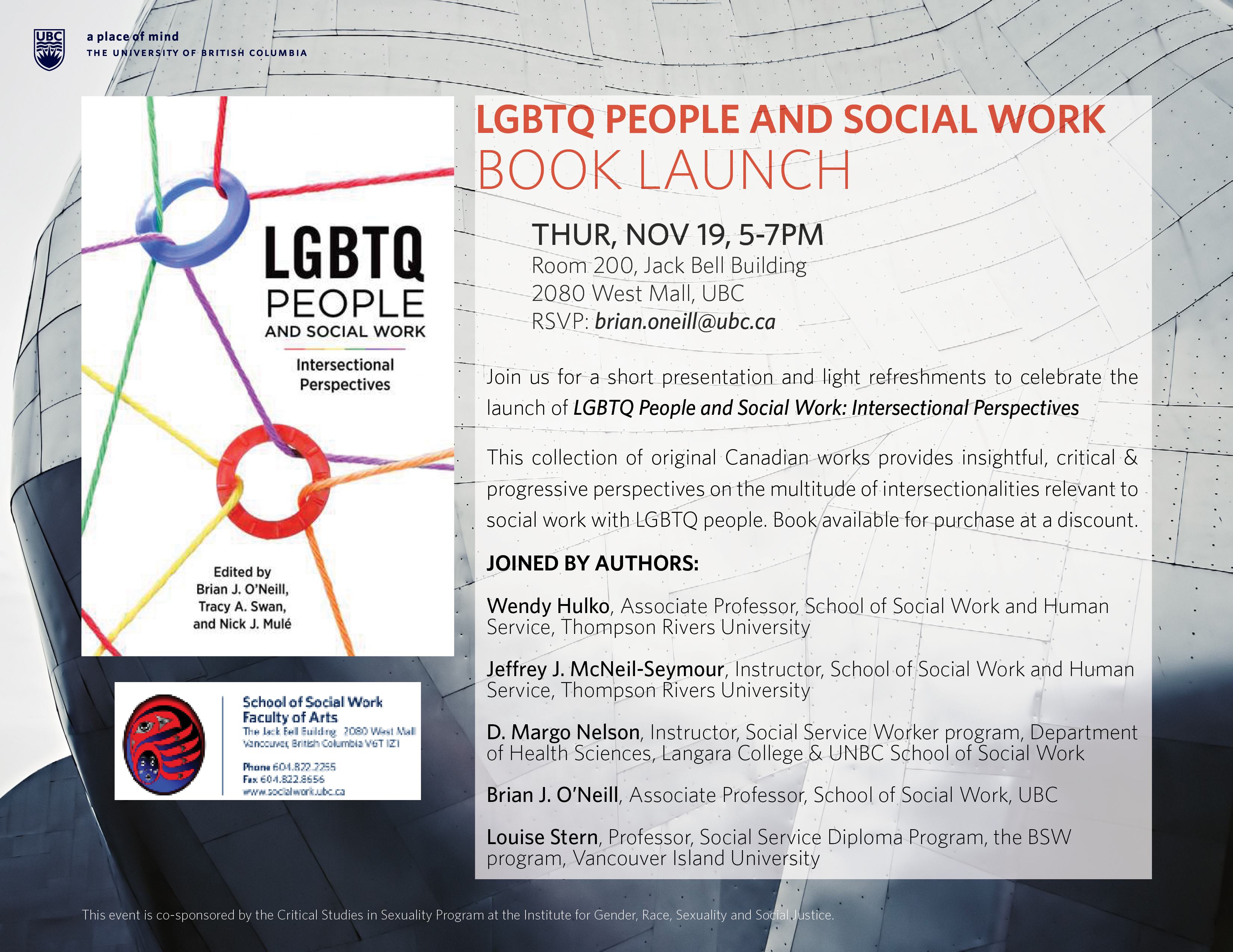 LGBTQ People and Social Work Book Launch